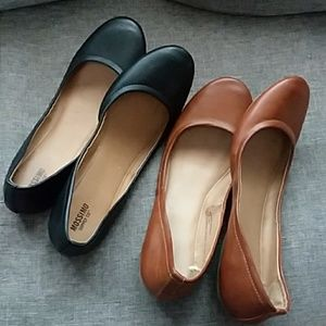 2 Pairs of Mossimo Flats